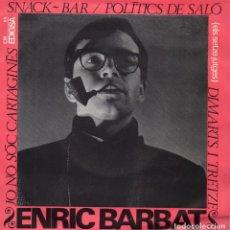 Discos de vinilo: ENRIC BARBAT (II), EP, SNACK-BAR + 3, AÑO 1965. Lote 90409079