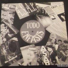 Discos de vinilo: TODO ENFASIS - MEGAMIX. Lote 90434784