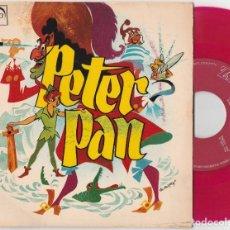 Discos de vinilo: PETER PAN (SINGLE ZAFIRO 1966) SERGIO SCHAAFF · LUIS DE PABLO · PEPE NIETO. Lote 90436599