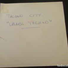 Discos de vinilo: TECNO CITY VAMOS TECHNO (VAE VICTIS MIX) DISCO DIFICIL . Lote 90436684