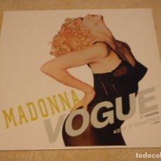 Discos de vinilo: MADONNA ( VOGUE - KEEP IT TOGETHER ) 1989 - GERMANY MAXI45 SIRE. Lote 90447384