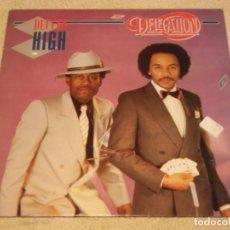 Discos de vinilo: DELEGATION ( DEUCES HIGH ) 1982 - HOLANDA LP33 ARIOLA. Lote 90458974