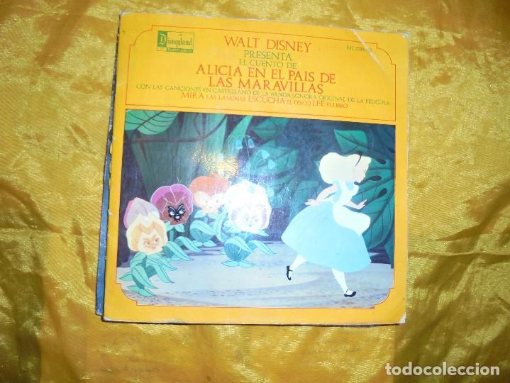 ALICIA EN EL PAIS DE LAS MARAVILLAS. DISNEYLAND RECORD 1969. DISCO CUENTO (Música - Discos - Singles Vinilo - Música Infantil)