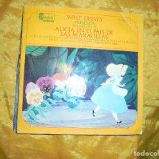 Discos de vinilo: ALICIA EN EL PAIS DE LAS MARAVILLAS. DISNEYLAND RECORD 1969. DISCO CUENTO. Lote 90462284