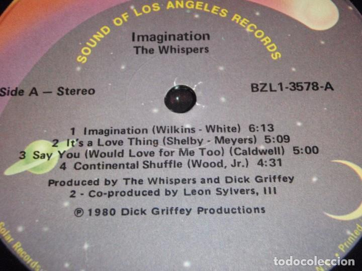 Discos de vinilo: The Whispers ?– Imagination, US 1980 Solar - Foto 3 - 90462804