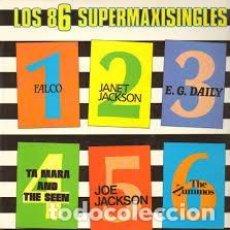 Discos de vinilo: VARIOS - LOS 86 SUPERMAXISINGLES [FALCO, JANET JACKSON, E.G. DAILY, JOE JACKSON - AÑO 1986. Lote 90465919