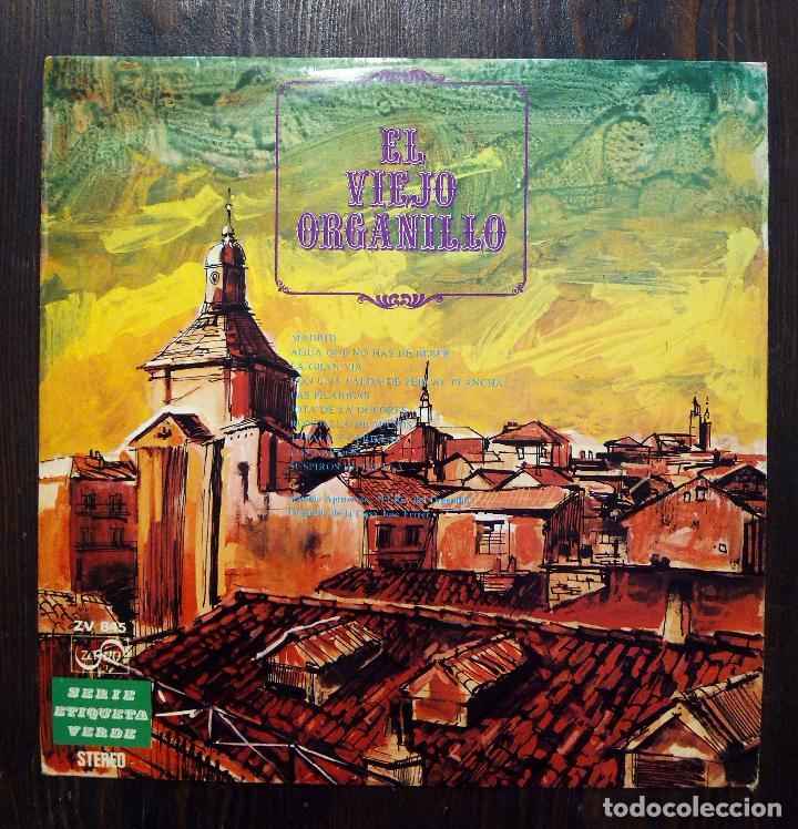 LP EL VIEJO ORGANILLO - SERIE ETIQUETA VERDE - ZAFIRO 1975. (Música - Discos - LP Vinilo - Clásica, Ópera, Zarzuela y Marchas)
