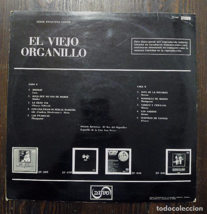 Discos de vinilo: LP EL VIEJO ORGANILLO - SERIE ETIQUETA VERDE - ZAFIRO 1975. - Foto 2 - 90470644