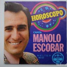 Discos de vinilo: DISCO HORÓSCOPO - CANTA MANOLO ESCOBAR - 1972 - REGALO DEL DISCO HORÓSCOPO FURIA.. Lote 90470744