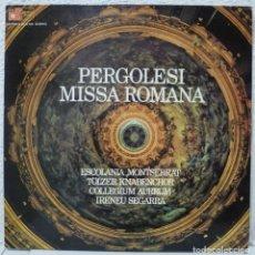 Discos de vinilo: PERGOLESI - MISSA ROMANA (LP BASF-HARMONIA MUNDI 1974) ESCOLANIA MONTSERRAT·COLLEGIUM AUREUM. Lote 90497050