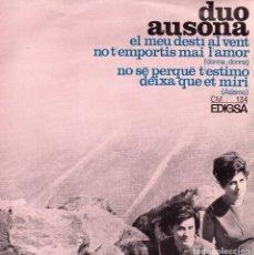 Discos de vinilo: DUO AUSONA, EP, EL MEU DESTÍ AL VENT + 3, AÑO 1966. Lote 90542625