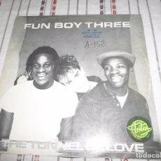 Discos de vinilo: FUN BOY THREE THE TUNNEL OF LOVE. Lote 90549845