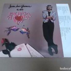 Discos de vinilo: JUAN LUIS GUERRA (LP) BACHATA ROSA AÑO 1990. Lote 90562235