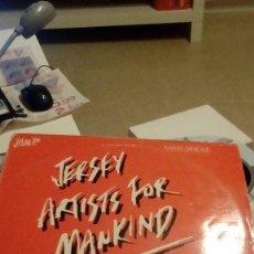Discos de vinilo: TRAST DISCO GRANDE 12 PULGADAS JERSEY ARTISTS FOR MANKIND. Lote 90577890