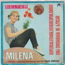 Discos de vinil: MILENA / CANCIONES EN ESPAÑOL DE MARY POPPINS (SINGLE 1966). Lote 90600375