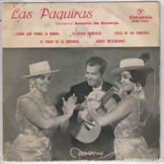 Discos de vinilo: LAS PAQUIRAS / TUMBA QUE TUMBA LA RUMBA + 3 (EP 1961). Lote 103915902