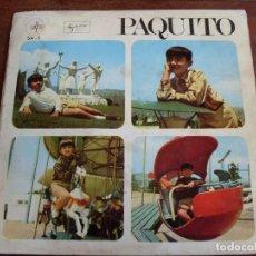Discos de vinilo: PAQUITO - TARTANITA, BAMBI, LOS TROVADORES, EL BARCO LA MAR Y EL VIENTO - EP 4 TEMAS SAYTON 1967. Lote 90607680