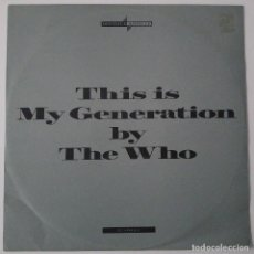 Discos de vinilo: THE WHO..THIS IS. MY GENERATION.(POLYDOR 1988.).UK. Lote 90653600