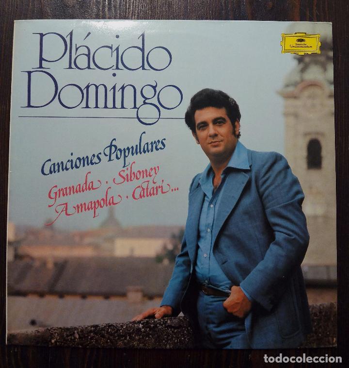LP PLÁCIDO DOMINGO-CANCIONES POPULARES-SE MI AMOR -1982- EDICIÓN ESPECIAL PARA CÍRCULO DE LECTORES. (Música - Discos - LP Vinilo - Clásica, Ópera, Zarzuela y Marchas)