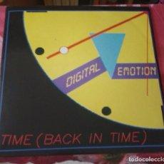 Discos de vinilo: DIGITAL EMOTION - TIME (BACK IN TIME). Lote 90686100