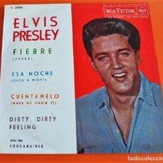 Discos de vinilo: ELVIS PRESLEY - FIEBRE(FEVER)+3 - EP SINGLE 1962 . Lote 90724330