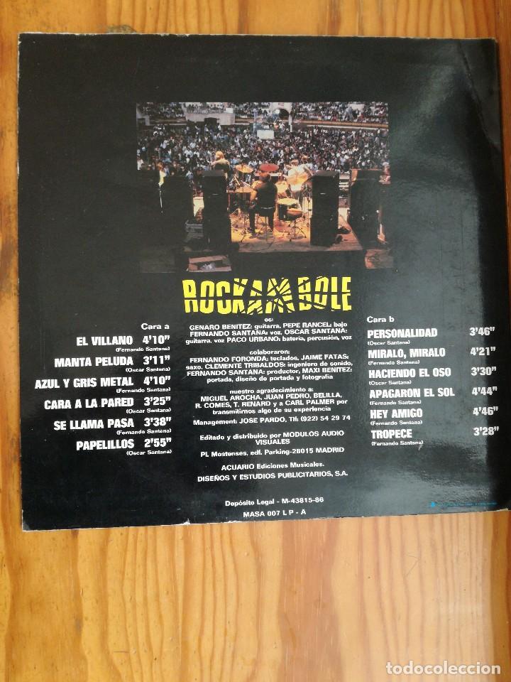 Discos de vinilo: ROCKAMBOLE LP-1986 TEMAS DE OSCAR Y FERNANDO SANTANA-LA MANTA PELUDA+EL VILLANO+OTRAS. - Foto 2 - 90732340