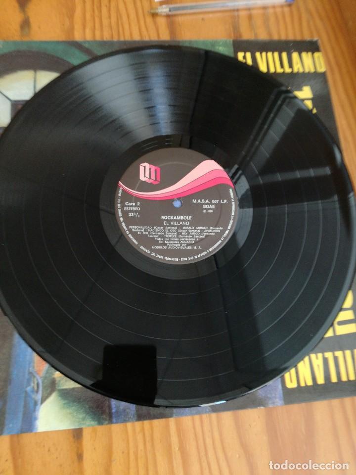 Discos de vinilo: ROCKAMBOLE LP-1986 TEMAS DE OSCAR Y FERNANDO SANTANA-LA MANTA PELUDA+EL VILLANO+OTRAS. - Foto 3 - 90732340
