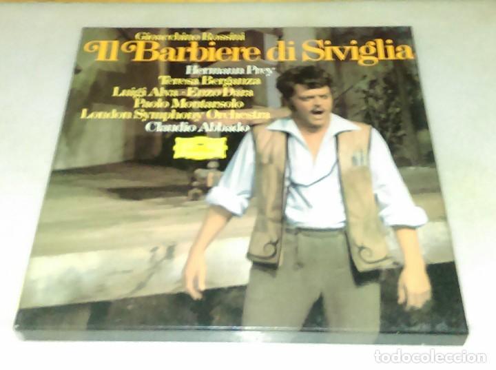 IL BARBIERE DI SIVIGLIA. ROSSINI. CLAUDIO ABBADO. ESTUCHE 3 DISCOS. (Música - Discos de Vinilo - EPs - Clásica, Ópera, Zarzuela y Marchas)