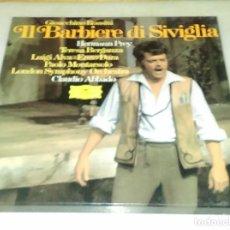 Discos de vinilo: IL BARBIERE DI SIVIGLIA. ROSSINI. CLAUDIO ABBADO. ESTUCHE 3 DISCOS.. Lote 90741065