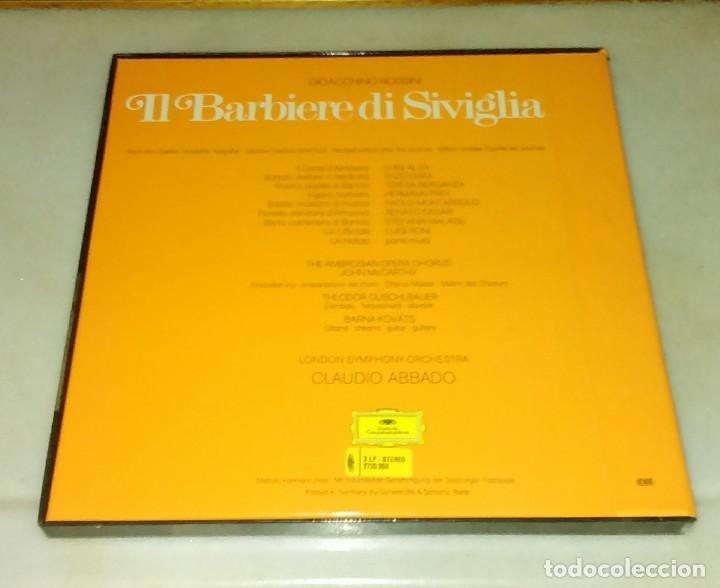 Discos de vinilo: IL BARBIERE DI SIVIGLIA. ROSSINI. CLAUDIO ABBADO. ESTUCHE 3 DISCOS. - Foto 2 - 90741065