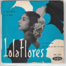 Discos de vinilo: LOLA FLORES / LA VELETA + 3 (EP FRANCES) . Lote 103915938
