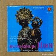 Discos de vinilo: ESCOLANIA BLAUETS REINA MALLORCA - HIMNO DE PEREGRINOS + 3 - EP. Lote 90754883