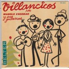 Discos de vinilo: MANOLO ESCOBAR (VILLANCICOS) VILLANCICOS DE TRIANA + 3 (EP 1959). Lote 90779585