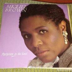 Discos de vinilo: MIQUEL BROWN, FOOTPRINTS IN THE SAND. Lote 90784390