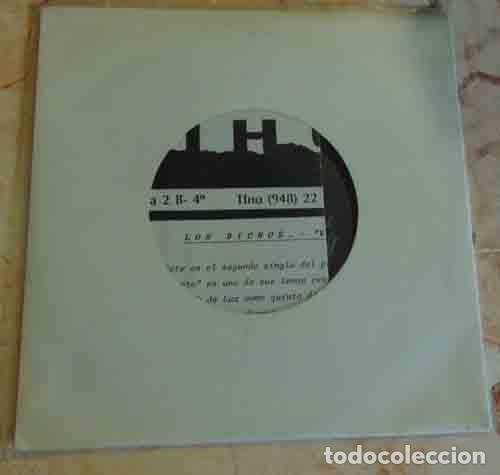LOS BICHOS - VERANO MUERTO - SINGLE PROMO 1989 (Música - Discos - Singles Vinilo - Grupos Españoles de los 70 y 80)