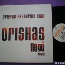 Discos de vinilo: ORISHAS FEAT NIKO - LLEGO REMIX - MAXI EP PROMOCIONAL CHRYSALIS 1999 // LATIN HIP HOP CUBAN NOCCHI. Lote 90805050