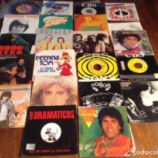 Discos de vinilo: LOTE DE 22 SINGLE MÚSICA VERANO AÑOS 80-90. Lote 90808083