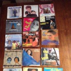 Discos de vinilo: LOTE DE 15 SINGLE VINILO CANCIÓN ESPAÑOLA. Lote 90826950