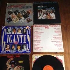 Discos de vinilo: LOTE DE 6 LP VINILO Y UNO ES DOBLE, ÉXITOS Y DANCE. Lote 90828694