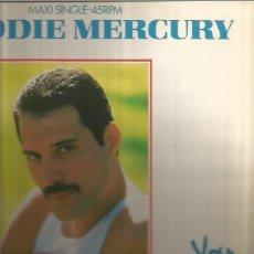 Discos de vinilo: FREDDIE MERCURY MAXI-SINGLE SELLO CBS EDITADO EN ESPAÑA AÑO 1985. Lote 90875280