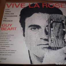 Discos de vinilo: LP DE GUY BEART, VIVE LA ROSE. EDICION DISQUES TEMPOREL (FRANCIA). RARO. DOBLE PORTADA. M.. Lote 90890490