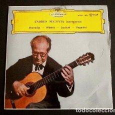 Discos de vinilo: ANDRES SEGOVIA (EP. 1961) GRANADOS, ALBENIZ, SCARLATTI, PAGANINI - DANZA Nº 5 GRANADOS (BUEN ESTADO). Lote 90891095