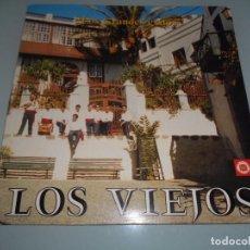 Discos de vinilo: FOLKLORE CANARIO - LOS VIEJOS - LP 1988 - DEDICADO A EZEQUIEL PERDIGÓN. Lote 90891895