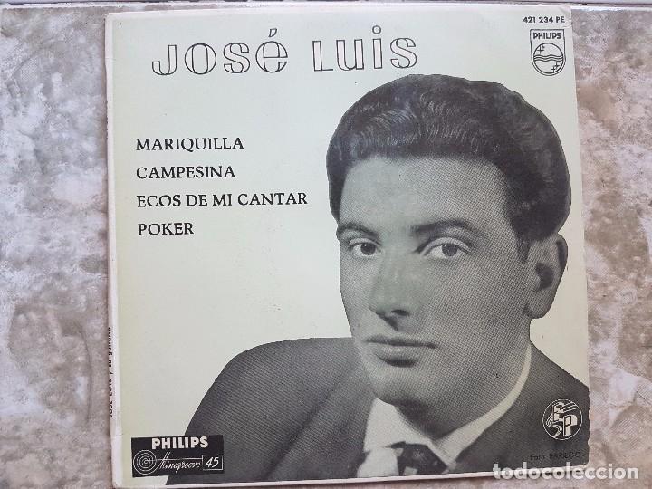 JOSÉ LUIS - MARIQUILLA..+3 (Música - Discos de Vinilo - EPs - Solistas Españoles de los 50 y 60)