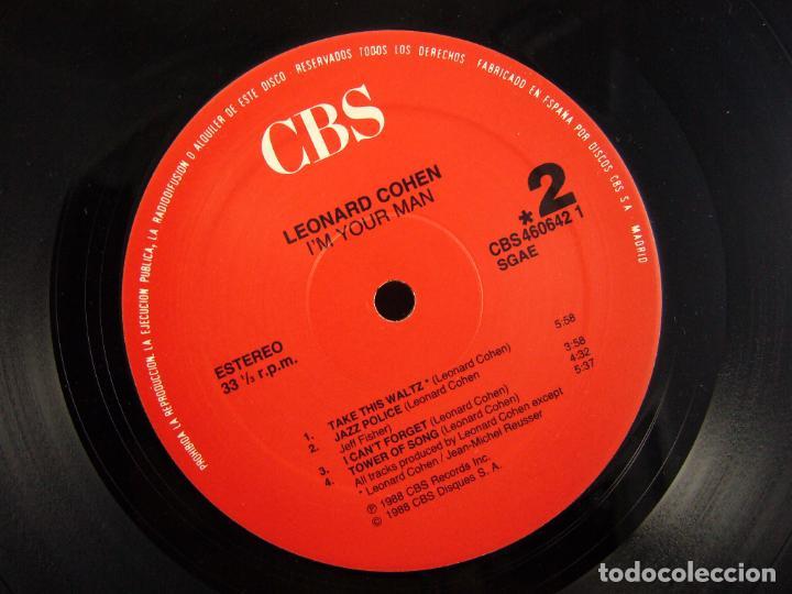 Discos de vinilo: LEONARD COHEN - I´M YOUR MAN - GRATEST HITS - Foto 4 - 90901660