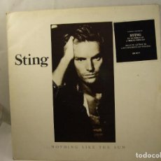 Discos de vinilo: DISCO DOBLE VINILO LP STING NOTHING LIKE THE SUN. Lote 90914875