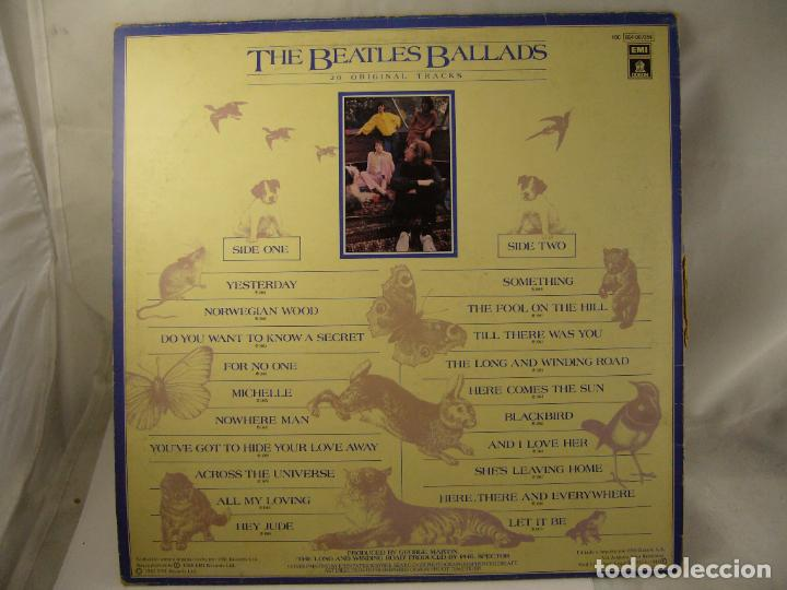 Discos de vinilo: THE BEATLES BALLADS 20 ORIGINAL TRACKS 1980 - Foto 2 - 188466556
