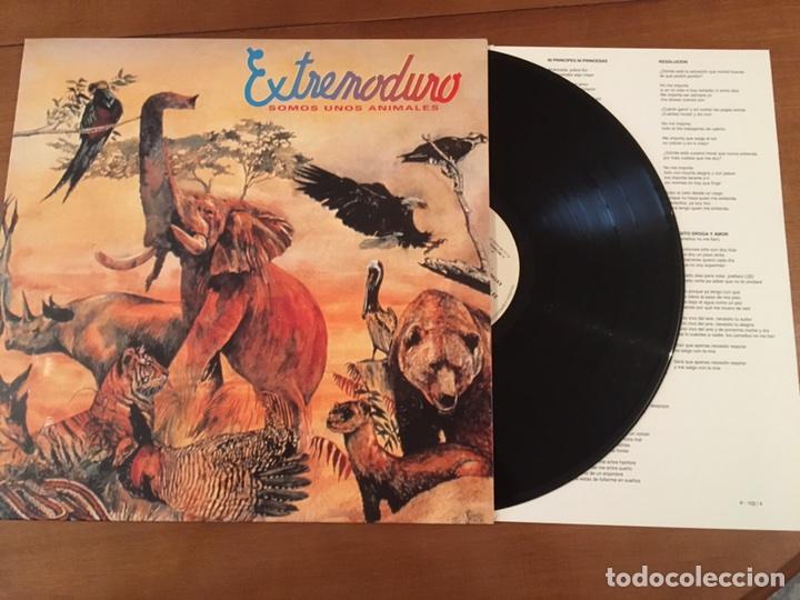 EXTREMODURO SOMOS UNOS ANIMALES MAREA ROSENDO BARRICADA LOS SUAVES CONTIENE INSERT DE LETRAS (Música - Discos - LP Vinilo - Rock & Roll)