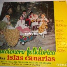 Discos de vinilo: CANCIONERO FOLKLORICO DE LAS ISLAS CANARIAS.FOLKLORE CANARIO.HH 10-158.AÑO 1961. Lote 90923945