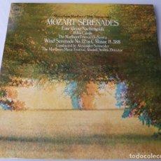 Discos de vinilo: MOZART SERENADES (LP CBS MASTERWORKS 1973) PABLO CASALS · RUDOLF SERKIN. Lote 90950600